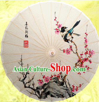 Asian Dance Umbrella China Handmade Classical Magpie Umbrellas Stage Performance Umbrella Dance Props