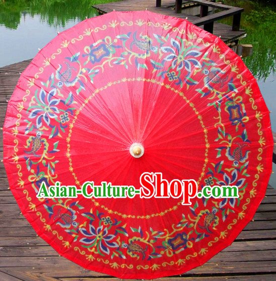 Asian Dance Umbrella China Handmade Classical Wedding Umbrellas Stage Performance Umbrella Dance Props