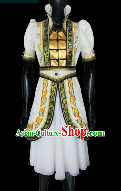 Mongolian Minority Empress Mongol Mongolia Princess Clothing Ethnic Traditional Costumes Complete Set