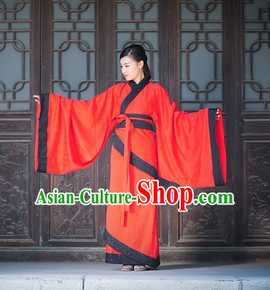 Ancient Chinese Dresses Hanfu Wedding Dress Hanbok Kimono Complete Set for Women