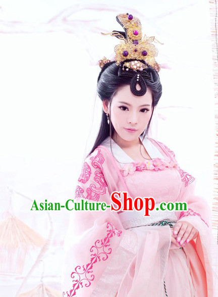 Ancient Chinese Princess Wig Hair Accessories Headpiece Headdress Hair Decoration Wigs