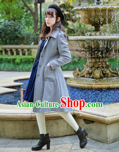 Traditional Classic Women Clothing, Traditional Classic British Restoring Ancient Coat Woolen Dust Coat for Women