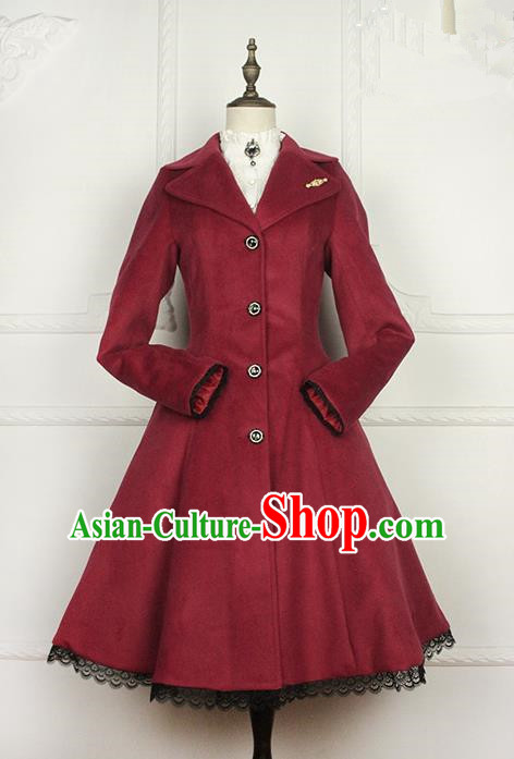 Traditional Classic Women Clothing, Traditional Classic Woolen Coat, British Restoring Ancient Wool Dust Coat for Women
