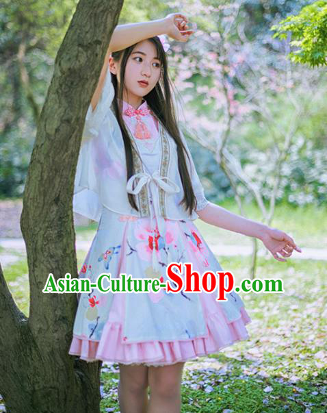 Traditional Classic Chinese Elegant Women Costume Improved Hanfu Coat, Restoring Ancient Princess Embroidery Blouse for Women