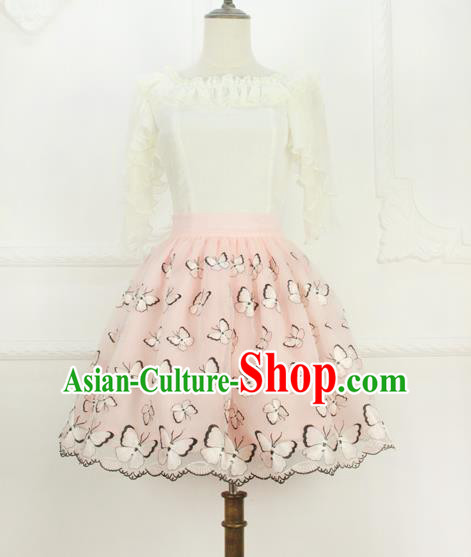 Traditional Classic Elegant Women Costume Organza Bust Skirt, Restoring Ancient Embroidered Bubble Skirt for Women