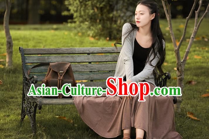 Traditional Classic Women Clothing, Traditional Classic Pure Cotton Tweed Cardigan Cotton Coats