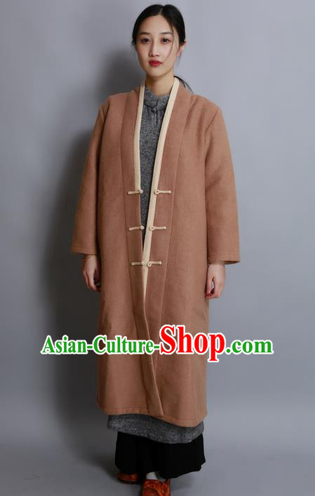 Traditional Chinese Female Costumes, Chinese Acient Hanfu Clothes, Chinese Cheongsam, Tang Suits Woolen Coat for Women