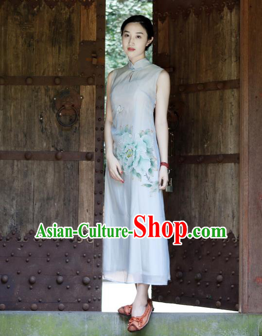 Traditional Chinese Female Costumes, Chinese Acient Clothes, Chinese Cheongsam, Tang Suits Dress for Women