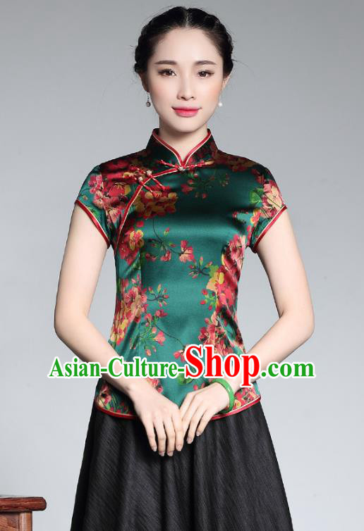 Traditional Chinese National Costume Plated Buttons Qipao Upper Outer Garment, China Tang Suit Chirpaur Vest Cheongsam Embroidered Waistcoat for Women