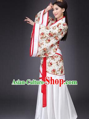 84dbcdd72 Asian China Ancient Han Dynasty Palace Lady Dance Costume, Traditional Chinese  Hanfu Imperial Concubine Dress Clothing for Women