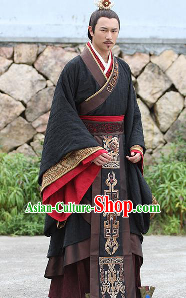 a5e326abf Traditional Ancient Chinese Imperial Emperor Costume, Chinese Han Dynasty  Majesty Embroidered Clothing for Men