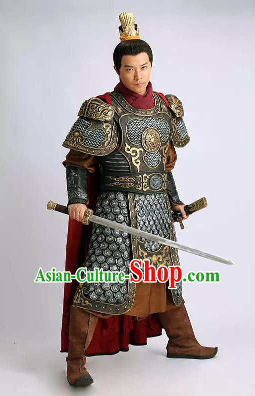 Traditional Chinese Southern and Northern Dynasties General Costume Warrior Armour for Men