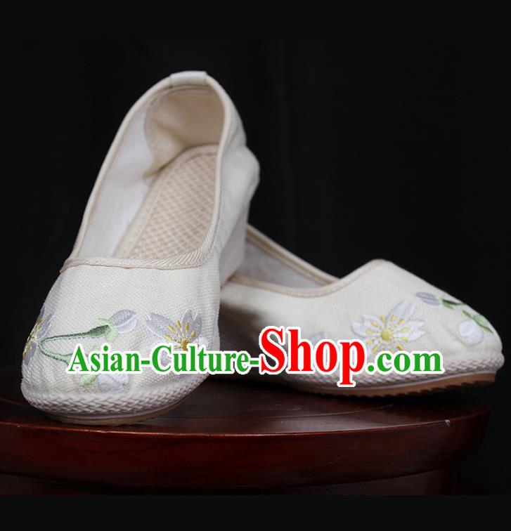Asian Chinese Shoes Wedding Shoes Princess Shoes, Traditional China Handmade Hanfu Shoes Embroidered Shoes