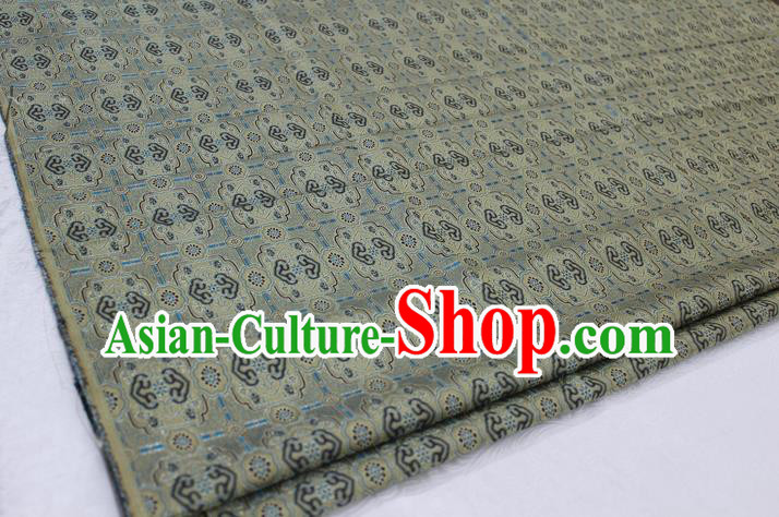 Chinese Traditional Ancient Costume Palace Pattern Mongolian Robe Grey Brocade Tang Suit Satin Fabric Hanfu Material