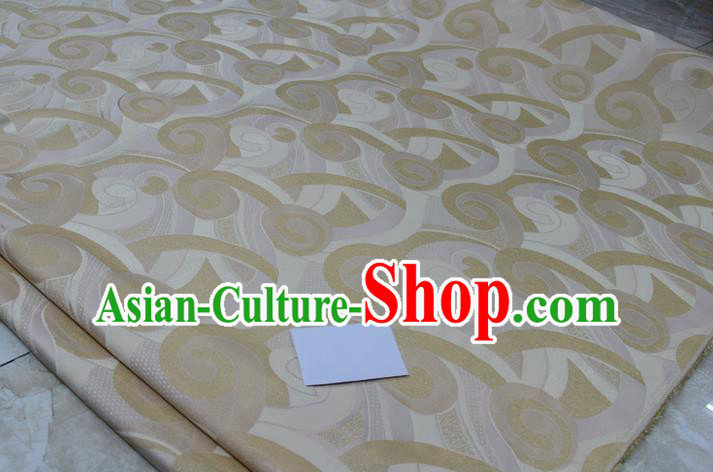 Chinese Traditional Clothing Palace Pattern Mongolian Robe Tang Suit Brocade Ancient Costume Satin Fabric Hanfu Material