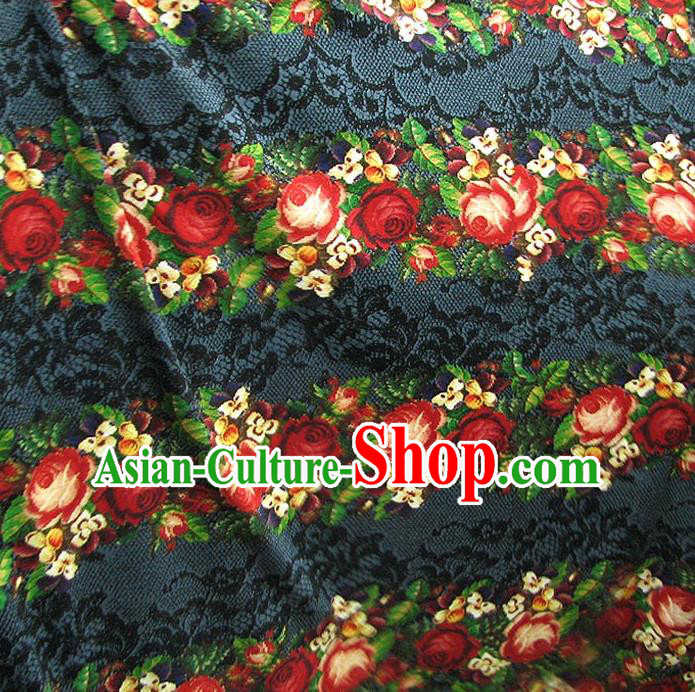 Chinese Traditional Royal Palace Pattern Design Hanfu Fabric Ancient Costume Tang Suit Cheongsam Material