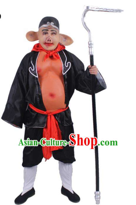 Chinese Beijing Opera Journey to the West Costume, China Peking Opera ZhuBaJie Clothing