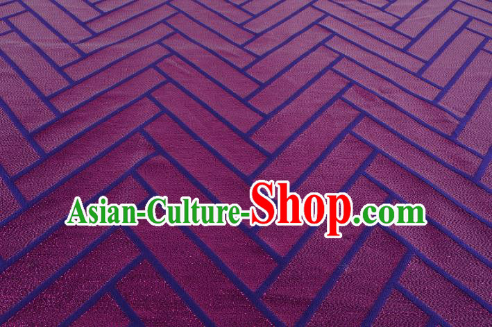 Chinese Traditional Costume Royal Palace Pattern Purple Brocade Fabric, Chinese Ancient Clothing Drapery Hanfu Cheongsam Material