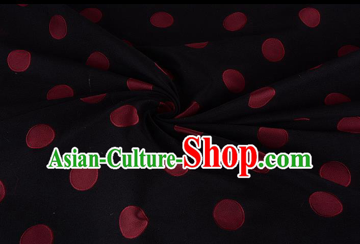 Chinese Traditional Costume Royal Palace Printing Black Brocade Fabric, Chinese Ancient Clothing Drapery Hanfu Cheongsam Material