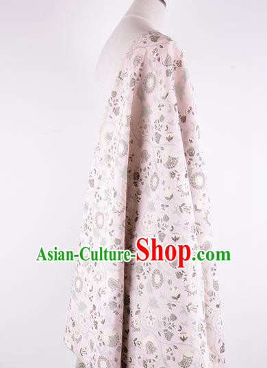 Chinese Traditional Costume Royal Palace Pattern Pink Brocade Fabric, Chinese Ancient Clothing Drapery Hanfu Cheongsam Material