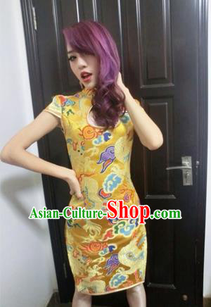 Traditional Chinese Female Costumes Chinese Ancient Clothes Chinese Brocade Cheongsam Tang Suits Dress for Women