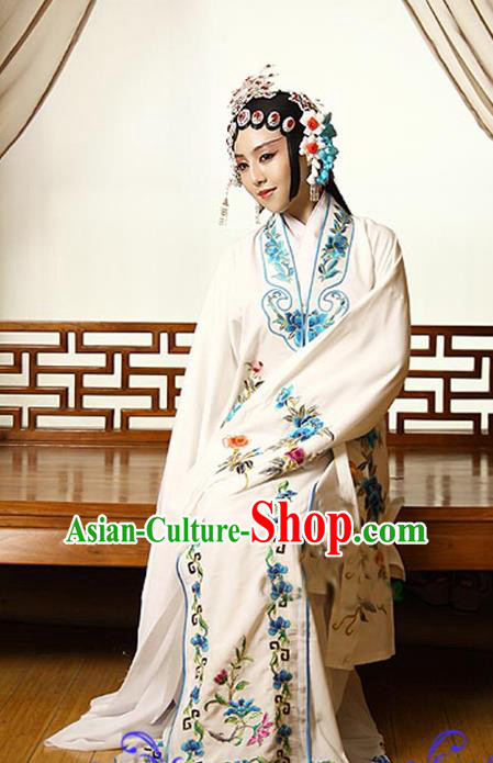 Traditional Ancient Chinese Peking Opera Imperial Consort Costume Set, Elegant Hanfu Young Lady Clothing Chinese Han Dynasty Imperial Queen Water Sleeves Embroidered Clothing for Women