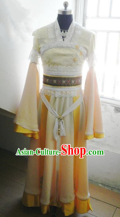 Traditional Ancient Chinese Imperial Consort Costume, Ancient Young Lady Elegant Hanfu Clothing Chinese Tang Dynasty Imperial Princess Cosplay Fairy Tailing Embroidered Dress for Women
