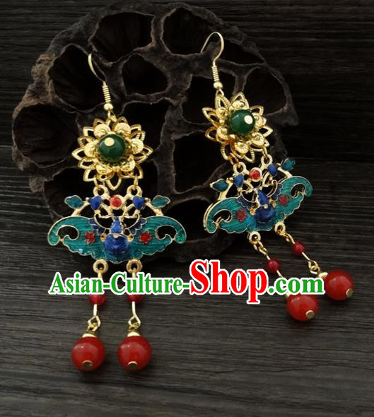 Traditional Handmade Chinese Ancient Classical Bat Earrings for Women