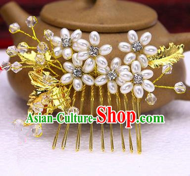 Traditional Handmade Chinese Ancient Classical Hair Accessories Flowers Hairpin, Hair Claws Hair Comb for Women