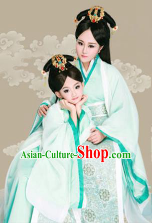 bd118fd24 Traditional Ancient Chinese Mother and Daughter Outfit Costume Complete Set,  Chinese Tang Dynasty Parent-Child Woman Dress, Cosplay Chinese Family  Portrait ...