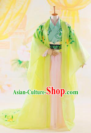 Traditional Ancient Chinese Imperial Emperess Costume, Chinese Han Dynasty Consort Dress, Cosplay Chinese Princess Consort Clothing Embroidered Hanfu for Women