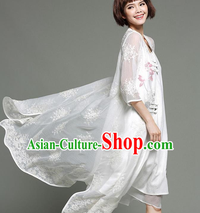 9eb332272 Traditional Ancient Chinese Young Women Cheongsam Dress Republic of China  Tangsuit Stand Collar Blouse Dress Tang