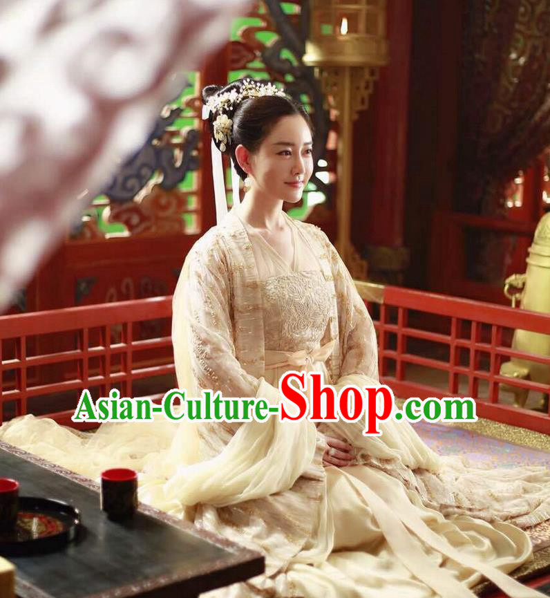 1003370c6 Traditional Ancient Chinese Palace Queen Costume, Elegant Hanfu Fairy  Clothing Chinese Teleplay Ten great III of peach blossom Role Han Dynasty  Imperial ...