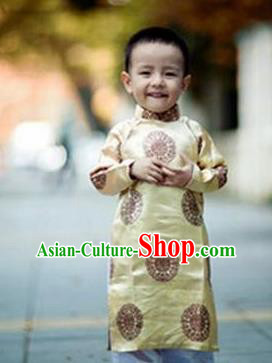 Top Grade Asian Vietnamese Traditional Costumes, Vietnam National Boys Ao Dai Dress, Vietnam Children Clothing