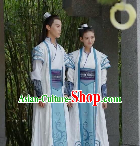 b6f75bc18 Traditional Chinese Ancient Tang Dynasty Taoist Priest Costumes and Headpiece  Complete Set, Fighter of the Destiny Ancient Swordsman Clothing for Men for  ...