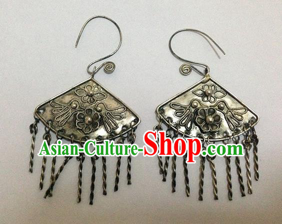 Traditional Handmade Chinese Ancient Classical Earrings Accessories Tassel Eardrop for Women