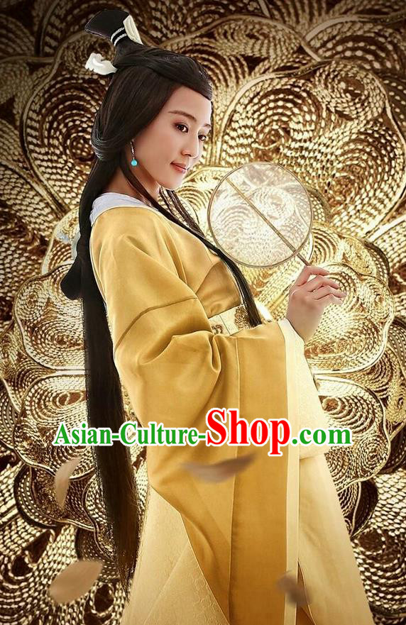 Traditional Ancient Chinese Three Kingdoms Period Female Imperial Consort Costume, The Advisors Alliance Imperial Concubine Dress Clothing and Headpiece Complete Set