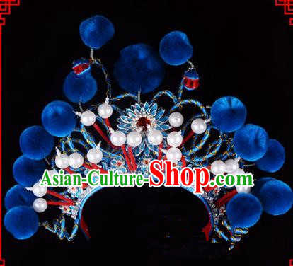 Traditional Chinese Ancient Peking Opera Accessories Madam White Snake Hat, Traditional Chinese Beijing Opera Hua tan Diva Headwear Crown