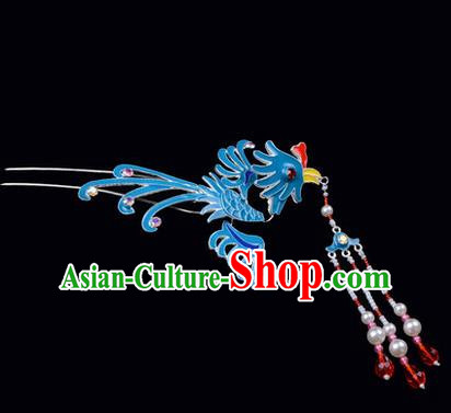 Top Grade Chinese Ancient Peking Opera Hair Accessories Diva Phoenix Hairpins Step Shake, Traditional Chinese Beijing Opera Hua Tan Hair Clasp Head-ornaments