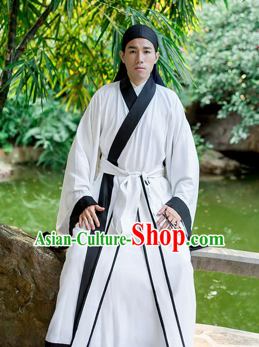 Traditional Chinese Ming Dynasty Young Men Costume, Elegant Hanfu Clothing Chinese Ancient Swordsman Clothing for Men