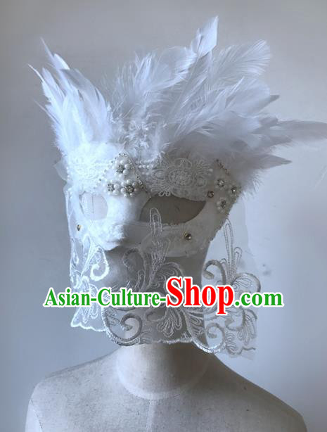 Top Performance Catwalks Headwear Halloween Cosplay Hair Accessories Mask