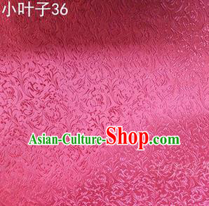 Asian Chinese Traditional Embroidered Wheat Flowers Pink Silk Fabric, Top Grade Arhat Bed Brocade Tang Suit Hanfu Dress Fabric Cheongsam Cloth Material