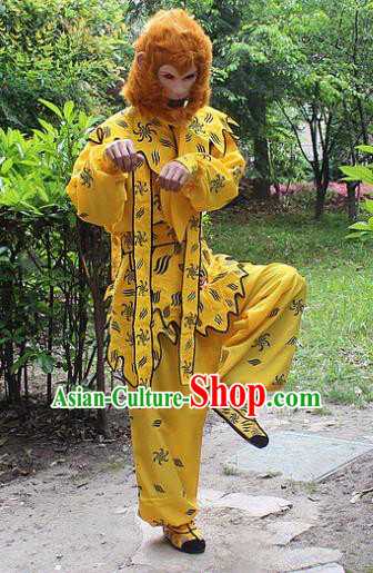 Traditional China Beijing Opera Costume Handsome Monkey King Clothing, Ancient Chinese Peking Opera Sun Wukong Clothing