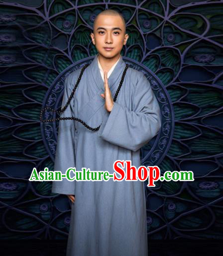 Traditional Chinese Ancient Monk Costume, Chinese Tang Dynasty Monk Robes Frock for Men