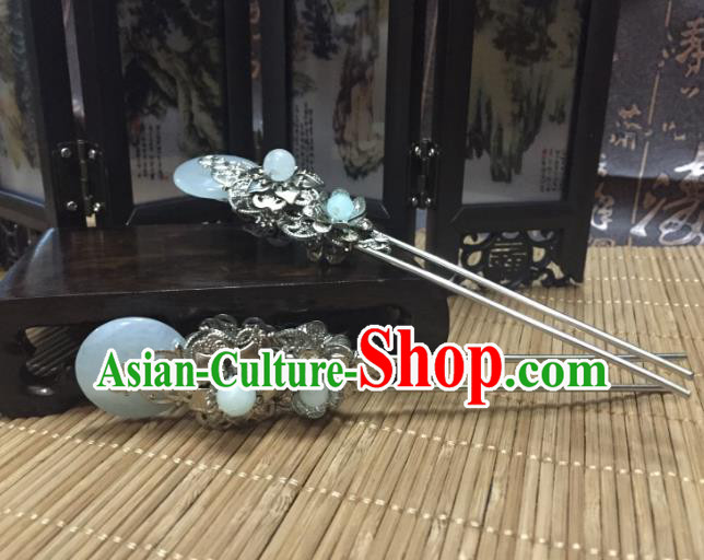 Traditional Handmade Chinese Ancient Classical Hair Accessories Hairpin Jade Hair Jewellery, Hair Fascinators Hairpins for Women