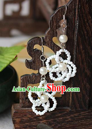 Chinese Handmade Classical Accessories Hanfu Beads Tassel Earrings, China Xiuhe Suit Wedding Eardrop for Women