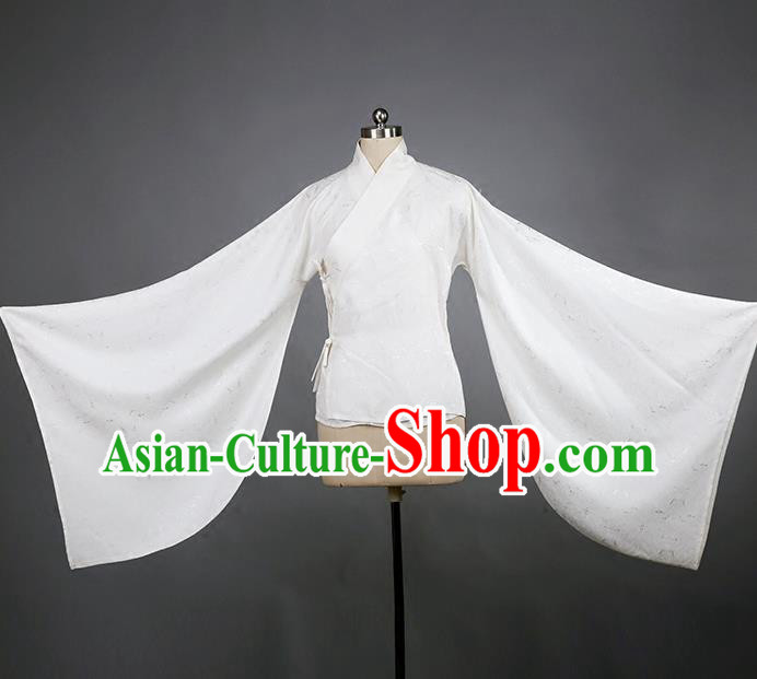 b9d0e5626 Traditional Chinese Ancient Hanfu Costume White Blouse, Asian China Han  Dynasty Princess Underpants Clothing for Women