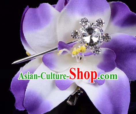 Traditional Beijing Opera Diva Hair Accessories Crystal Hair Stick, Ancient Chinese Peking Opera Hua Tan Hairpins