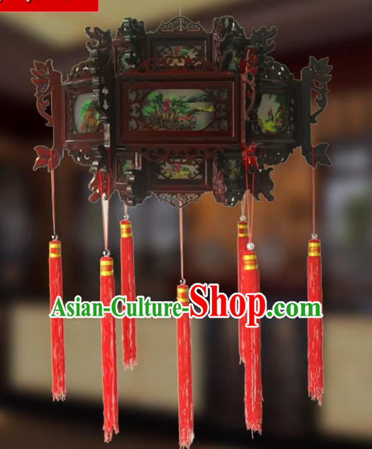 Traditional Chinese Handmade Lotus Lantern Classical Palace Lantern China Wood Carving Ceiling Palace Lamp