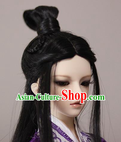 Traditional Handmade Chinese Ancient Tang Dynasty Nobility Childe Hair Accessories Wig Sheath for Men